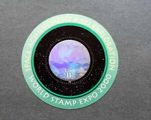 US 2000 Scott # 3412 World Stamp Expo - $11.75 MNH Hologram Stamp