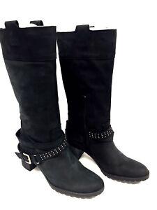 femme 39 8 Cuir FR Bluegenex Taille Bottes sur US Noir Détails ygmbvIf6Y7