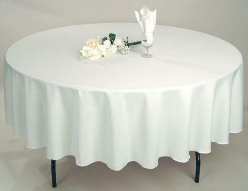 10 ROUND 72  inch Tablecloth Polyester Table Cover WEDDING PARTY Cover 21 FarbeS