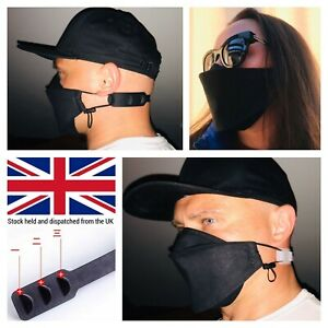 Face Mask Uk Handmade Washable With Nose Wire Ear Hook Adjustable Ear Strap Ebay