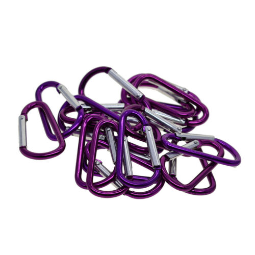 20 Pieces Aluminum Carabiner D-Ring Key Chain Clip Snap Hook Karabiner Camping