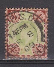 Great Britain nr 109 TOP CANCEL EDWARD VII 1902 VEILING oude postzegels ENGELAND
