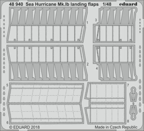 Eduard PE 48940 1//48 Hawker Sea Hurricane Mk Ib volets d/'atterrissage n/'ont Airfix