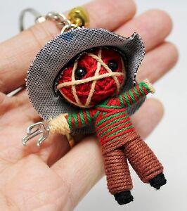 freddy krueger keychain voodoo string doll handmade