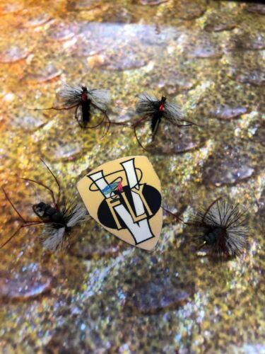 4 V Fly Size 12 Ultimate RV Super Aero Red Legs Trout Dry Flies