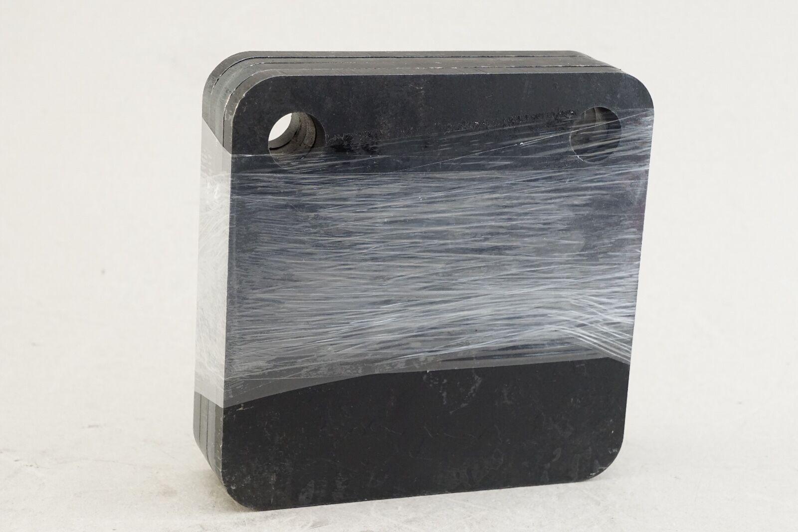 Nuevo paquete de 4 6  X 6  cuadrado de destino de Acero Negro AR500 Gong 3 8  agujeros de espesor de 3 4