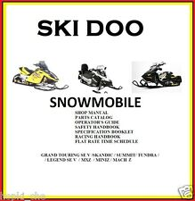 SKI DOO SNOWMOBILE 2003 SERVICE PACK  PARTS  SPECIFICATION ALL MODEL #Snowmobile