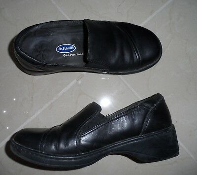 Honest Dr Scholl's Women Size 7.5 7 1/2 W Black Leather Wedge Loafers Casual Shoes Clothing, Shoes & Accessories