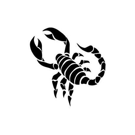 Scorpion autocollant sticker adhésif logo 3 Taille:12 cm couleur : rouge