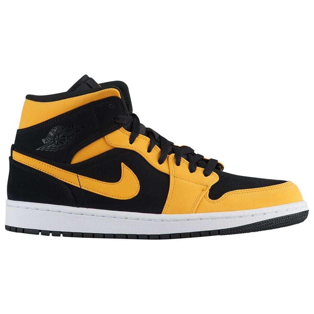 Nike Jordan Retro 1 Mid inversa Amarillo Air Nuevo Amor Negro Amarillo inversa 554724 071 ad996e