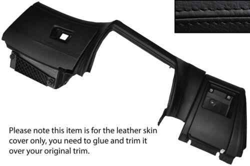 Black stitch inférieur Dash planche de bord de la peau recouvre fits bmw série 5 E39 95-03