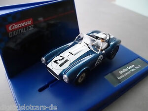 Carrera-Digital-132-30651-Shelby-Cobra-Rossfeldrennen-1965-034-No-21-034-LICHT-NEU