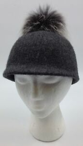 a7accffd0ec Women s Felt Beanie from Complit in Charcoal with two tone black and ...
