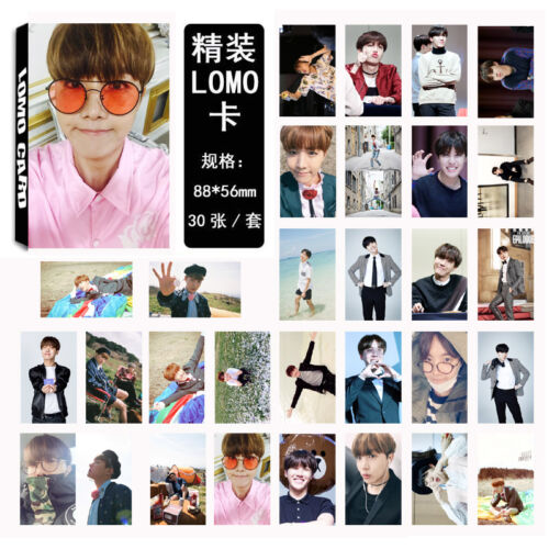 30PCS-Kpop-BTS-Wings-Lomo-Card-Bangtan-Boys-YOU-NEVER-WALK-ALONE-Photocards-Suga