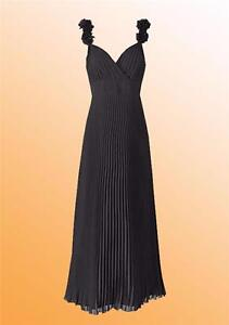New Simply Be Ladies Joanna Hope Pleated Corsage Dress Size 12 14 Uk Black Ebay