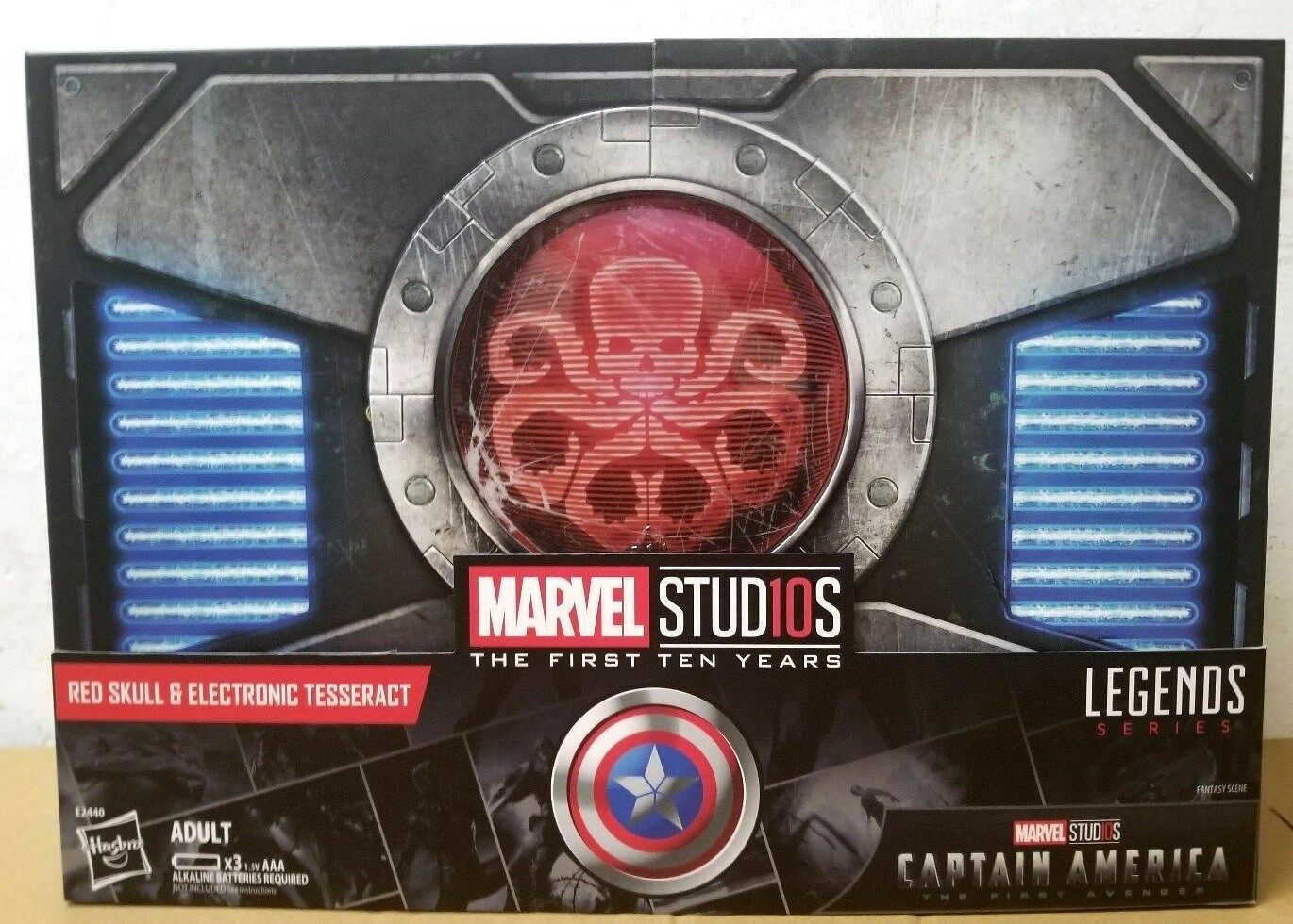 Hasbro marvel legends series 10. rot skull & elektronische tesserakt sdcc 2018