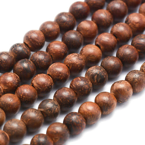 5 Strds Natural Rosewood Beads Round Smooth Wooden Bead Spacers 4mm 6mm 8mm 10mm