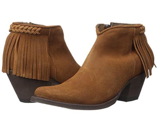 NEW OLD GRINGO Yippe Ki Yay Latika Leather Fringe Stiefelies Rust Suede Größe 8M