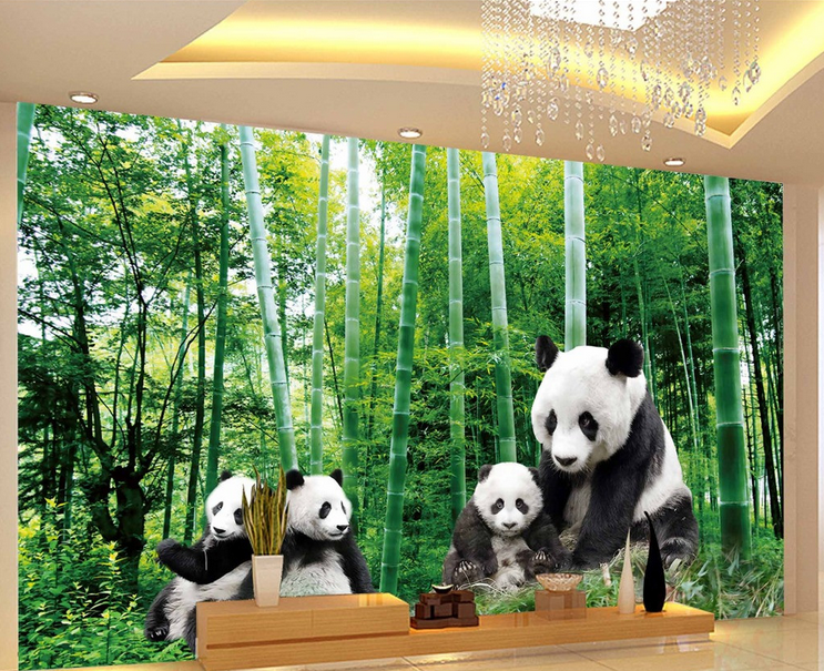 3D Panda Bambus 9807 Tapete Wandgemälde Tapete Tapete Tapete Tapeten Bild Familie DE Summer |   e39cc4
