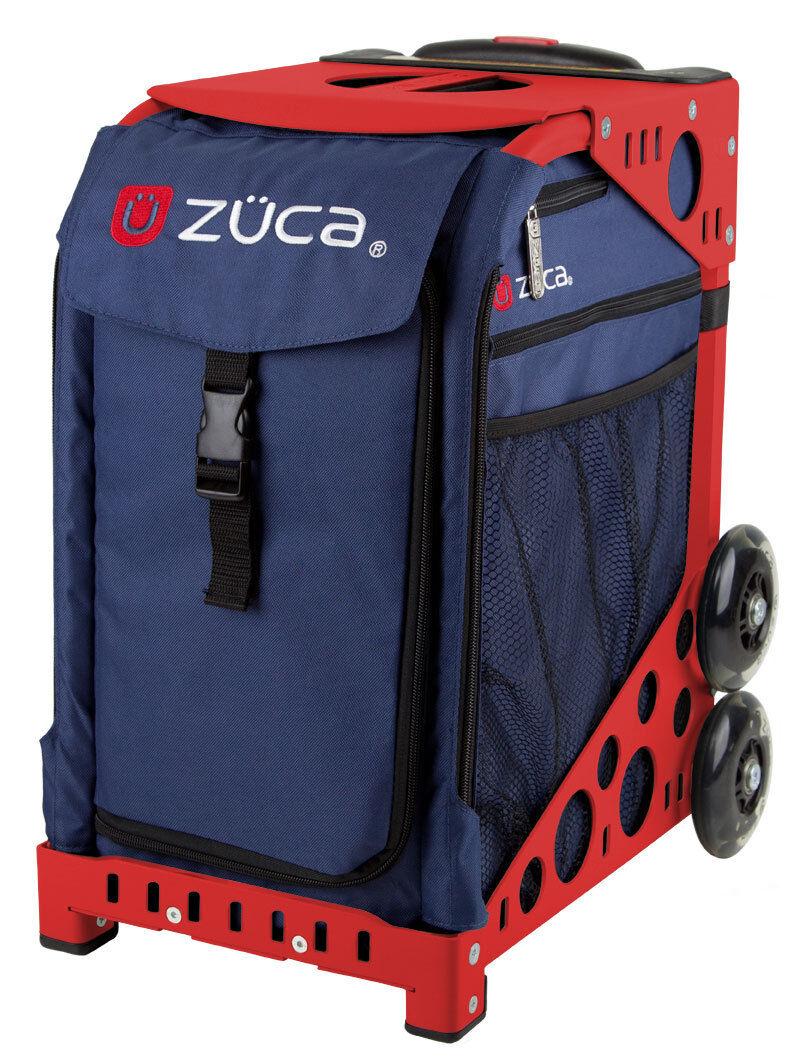 ZUCA Bag MIDNIGHT Insert & Red Frame w Flashing Wheels - FREE SEAT CUSHION