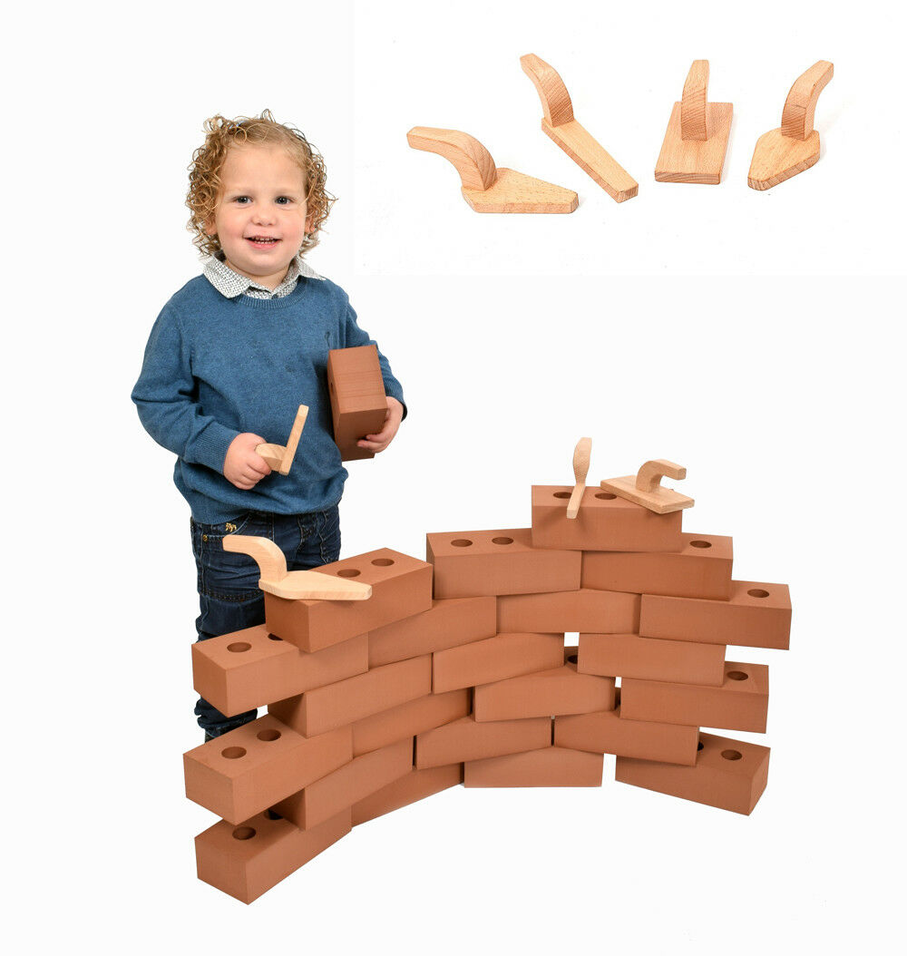 150 X Vida Tamaño Espuma Ladrillos Bloques de Construcción Juguete del Niño Niño Con Herramientas