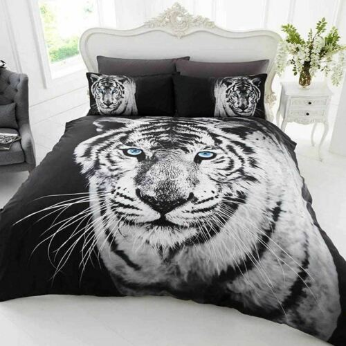 Double Et King Animaux Photo Sets de couette Husky Tigre Ours Stag-Simple