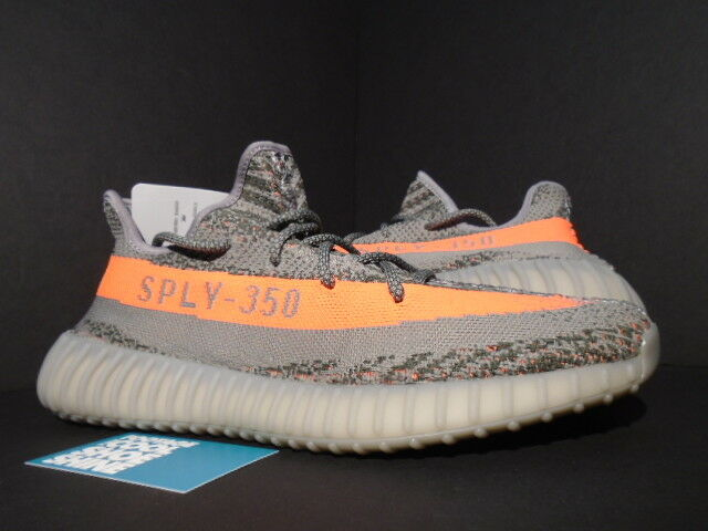 6e77b83584ef0 adidas Originals Yeezy Boost 350 V2 Steel Grey Beluga Solar Red Bb1826 for  sale online