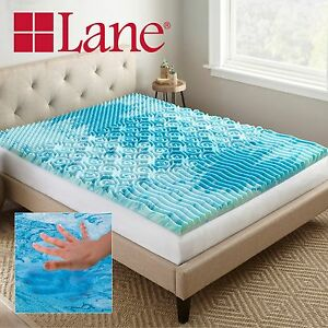 gel memory foam innerspring airbed mattress topper pad ebay. Black Bedroom Furniture Sets. Home Design Ideas