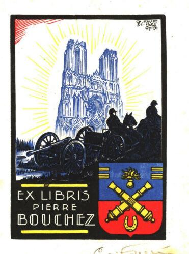 par Charles Favet. EX-LIBRIS de Pierre BOUCHEZ de Reims