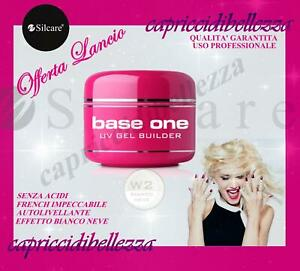GEL-BIANCO-FRENCH-15g-BASE-ONE-SILCARE-W2-BIANCO-NEVE-RICOSTRUZION-UNGHIE