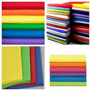 Broadcloth-Fabric-45-034-Cotton-Polyester-Blend-Sold-By-The-3-Yard-Bolt