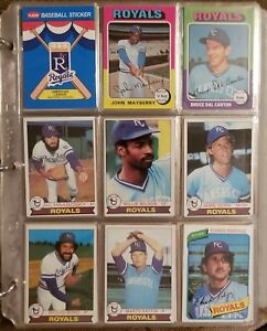 Details About Binder Of Approximately 580 Kc Royals Baseball Cards 70s 90s All Brands