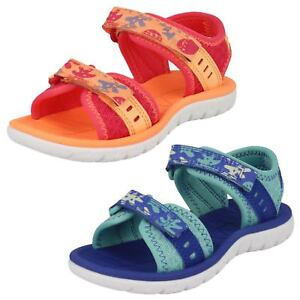 010bee0718ec Image is loading Clarks-Girls-Casual-Sandals-Surfing-Skies