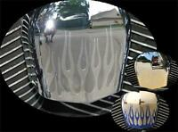 Flame Decal Fits Harley Davidson Horn Bell Cover, Colored Chrome Options