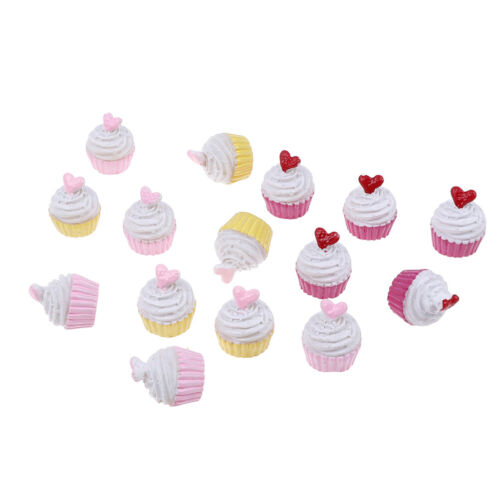 5Pcs Dolls miniature pretend toy mini play food heart love cake for kids toy HI