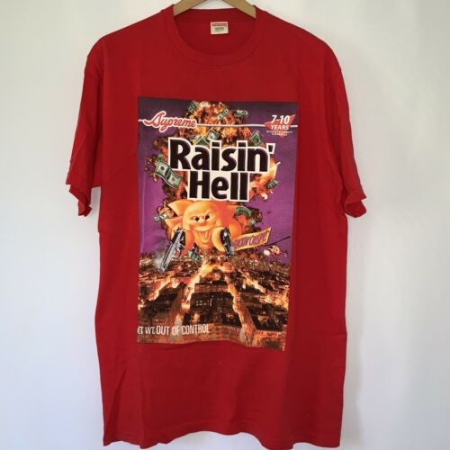 Supreme Raisin' Hell Shirt Graphic Tee 2006 Large
