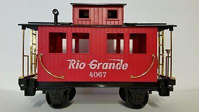Eztec Scientific Toys Red Rio Grande Caboose Car #4067 Train Set G Scale