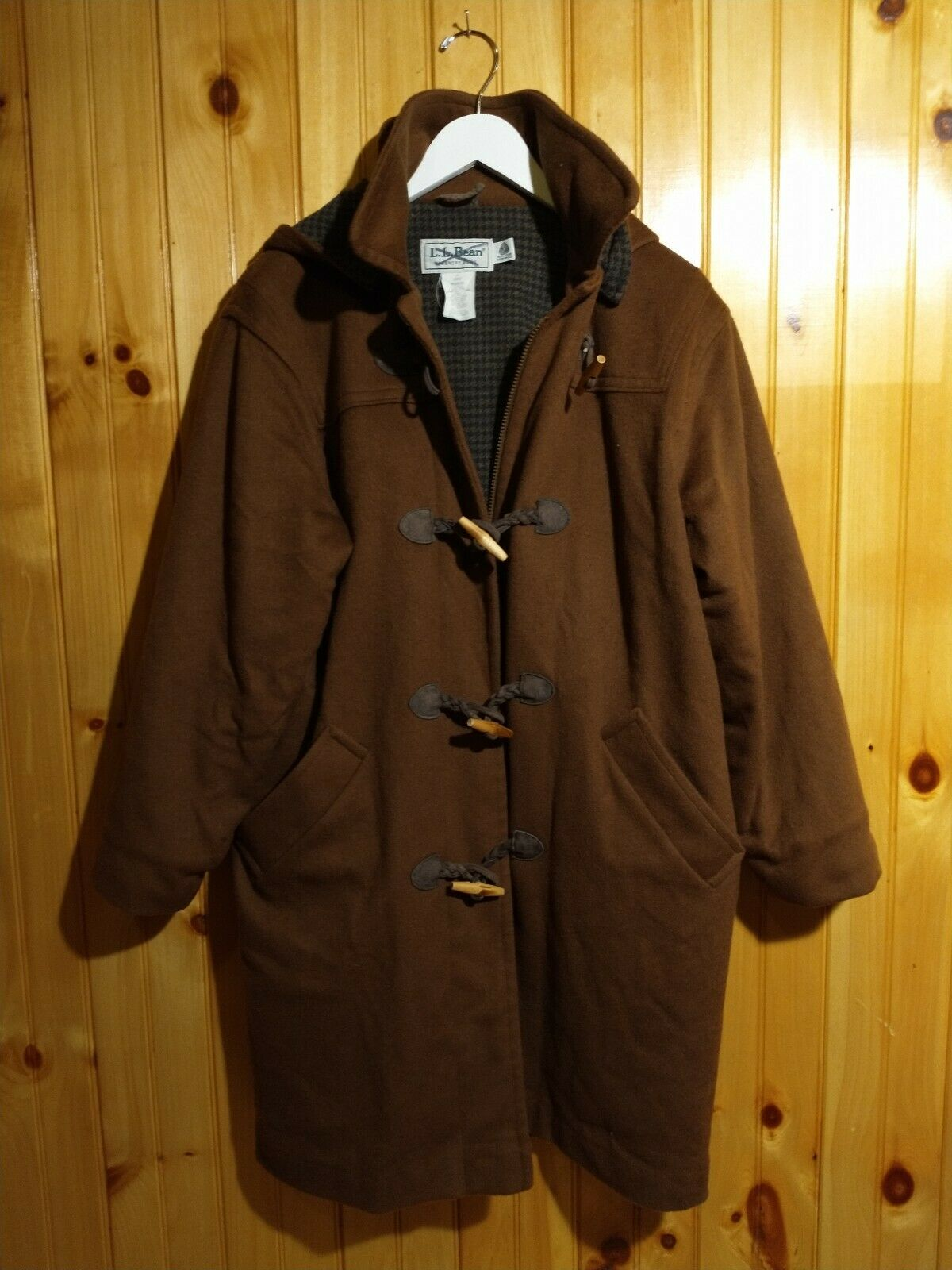 Vintage LL Bean Wool Toggle Coat Womens 6 Copper … - image 7
