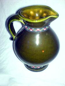 Vase-Krug-Gmundner-Keramik-Dunkelgruen-Osterreich-TOP