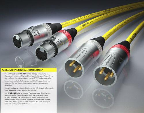 EPB1-0300 Sommer Epilogue Referenz QuadCore XLR-EMC Kabel 2x3m balanced cable