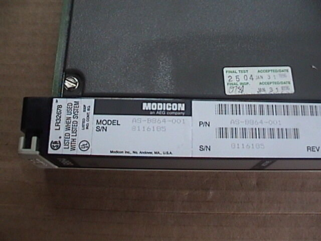 Modicon Register Output Module AS-B864-001 ASB864001 Used