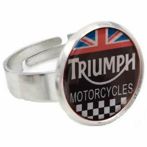 Motocycles Triumph Union Jack Bague Ajustable Jewellrey