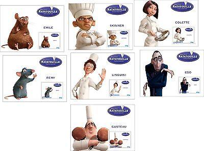 Disney Ratatouille Characters 7 Souvenir Sheets Mnh Unperforated Ebay