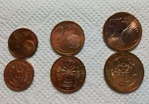 ÖSTERREICH, Austria je 1 x 1+2+5 Euro Cent Münzen EUROMÜNZEN, PRÄGEJAHR 2010 - Berlin, Deutschland - ÖSTERREICH, Austria je 1 x 1+2+5 Euro Cent Münzen EUROMÜNZEN, PRÄGEJAHR 2010 - Berlin, Deutschland