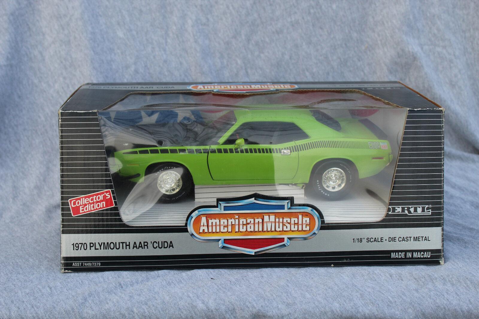 1 18 Ertl American Muscle 1970 Plymouth AAR Cuda  7379