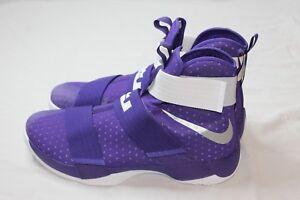 522224745d4 Nike LeBron Soldier 10 X 856489-551 White Purple Size 17 Retail  130 ...