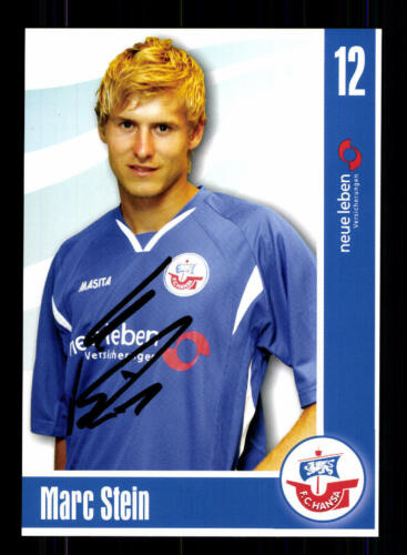 Marc Stein Autogrammkarte Hansa Rostock 2006-07 Original Signiert+A 132607