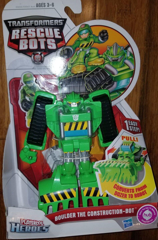Versión 1ST  Transformers Rescue Bots de Jugarskool-Boulder la Construcción Bot