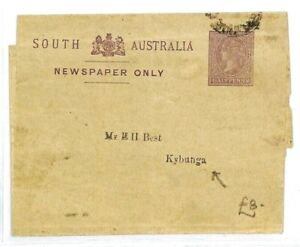 South Australia Entiers Postaux Journal Kybunga Qv {samwells Couvre -} Cw170-rs} Cw170afficher Le Titre D'origine