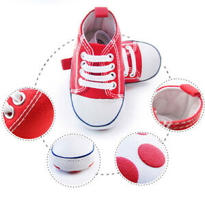 * SOFT BABY CANVAS NON-SLIP CRIB SHOES SIZE 5.5 FOR BOYS ...